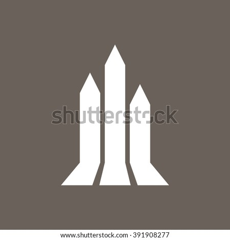 Growth Arrow, Progress, Growing Graph Icon on Dark Gray Color. Eps-10.