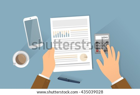 Growth business, manager is planing big investment. Vector created illustration EPS10. Isolated objects. - stock vector