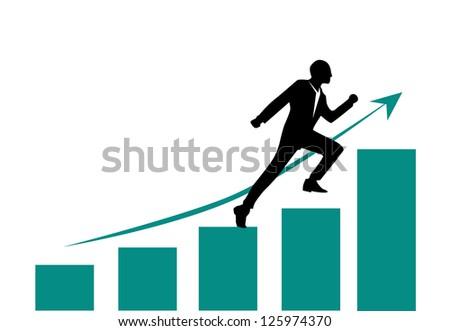 growth chart - stock vector