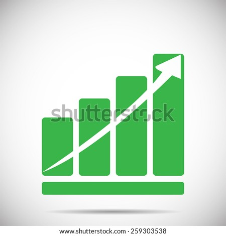 Growth chart with arrow vector illustration - stock vector