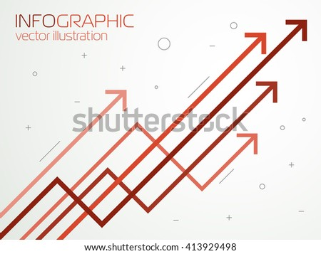 Growth charts, vector - stock vector