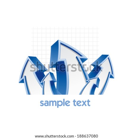 Growth concept business design template with arrows - stock vector