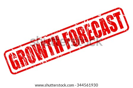 GROWTH FORECAST red stamp text on white - stock vector