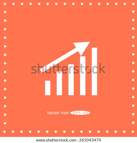 Growth graph concept - stock vector