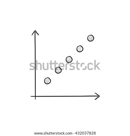 Growth graph vector sketch icon isolated on background. Hand drawn Growth graph icon. Growth graph sketch icon for infographic, website or app. - stock vector