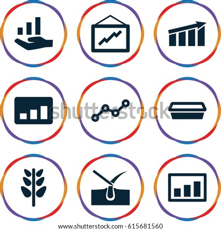 Growth Icons Set Set 9 Growth Stock Vector 615681560 Shutterstock