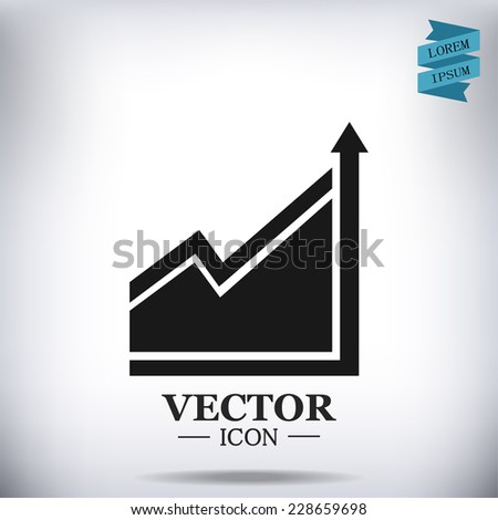 growth of business - vector icon - stock vector