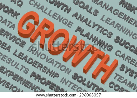 growth word cloud ,business concept