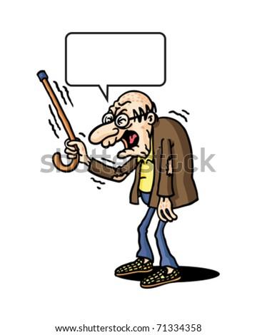 Grumpy old man Stock Photos  Illustrations  and Vector ArtGrumpy Old Man Cartoon Face