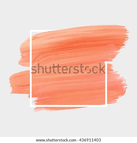 Grunge abstract background brush paint texture design acrylic stroke poster illustration vector over square frame. Rough paper hand painted vector. Perfect design for headline, logo and sale banner.