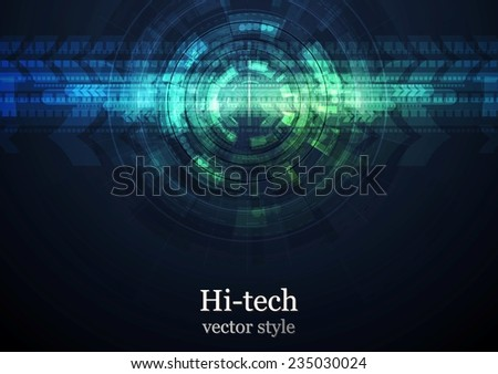 Grunge abstract technology background. Dark vector design - stock vector