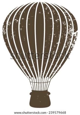 grunge air balloon brown - stock vector