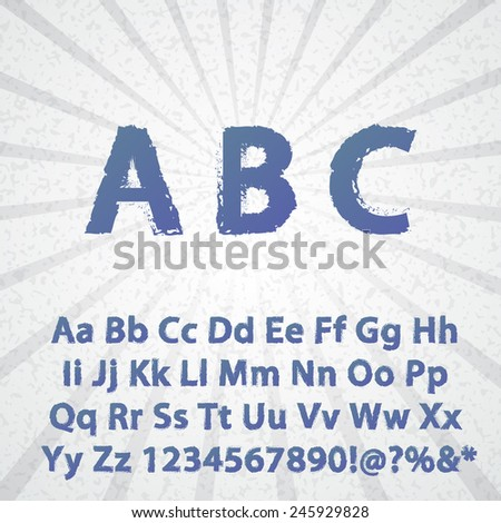 Grunge Alphabet vector set for your design - stock vector