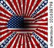 Grunge American background - stock vector