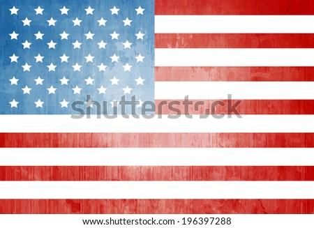 Grunge American flag - stock vector