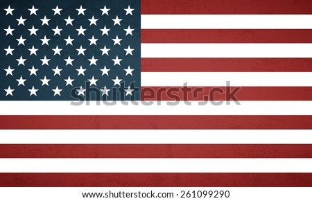 Grunge american flag background - Vector - stock vector