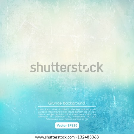 Grunge background in blue and beige color - stock vector