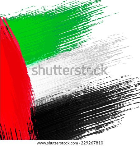Grunge background in colors of United Arab Emirates flag - stock vector