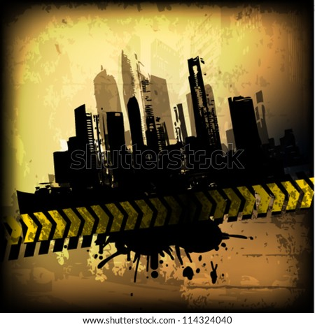 Grunge background. Vector - stock vector