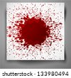Grunge background with a big red splash. Vector illustration. - stock photo