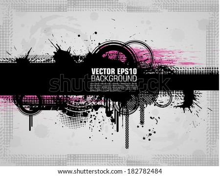 Grunge background with a colorful rainbow ink splat effect