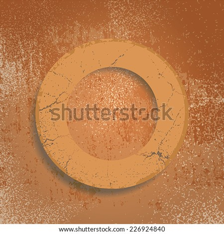 Grunge background with abstract ring