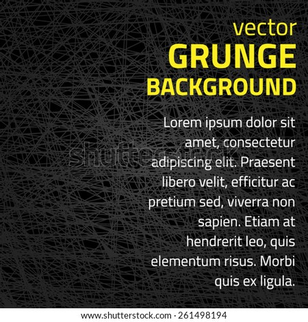 grunge background with line - stock vector