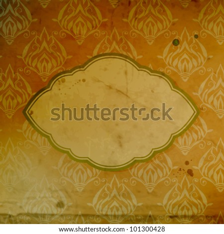 Grunge background with old paper label