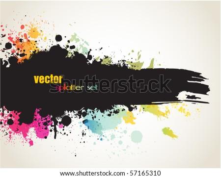 Grunge banner - stock vector