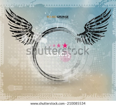 Grunge banner with an inky dribble strip with copy space. Abstract background for party - stock vector