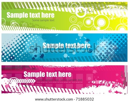 Grunge banners with place for your text - stock vector