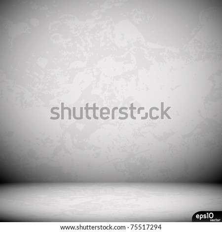 Grunge Black Interior - stock vector