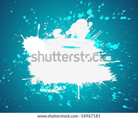 Grunge blue vector  inky  background