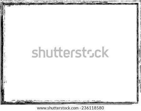 Grunge Border Frame. Vector Illustration.  - stock vector