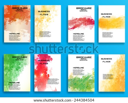 Grunge Bright Color Distress Texture . Scratch Texture . Dirty Texture . Wall Background .Vector Illustration. Set of Flyer Templates. Collection of Brochure Design . Abstract Modern Background .  - stock vector