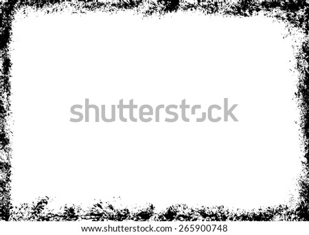 Grunge brush frame - stock vector