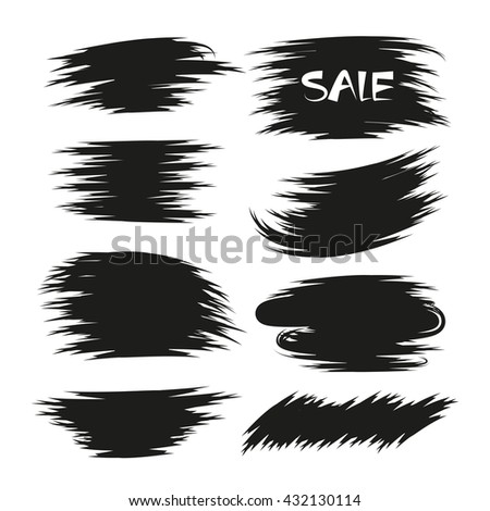 grunge brush set for marking text, promotion text