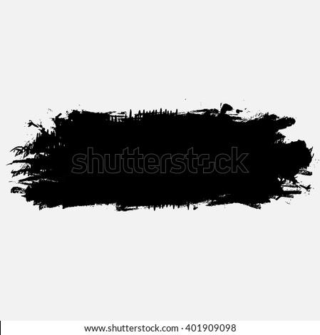 grunge brush stroke ink texture and background, vector illustration design element - stock vector