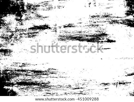 Grunge brush texture white and black. Sketch sand abstract to create distressed effect. Overlay distress grain monochrome design. Stylish dust modern background. Smear paint prints Vector illustration