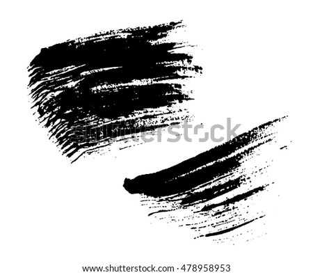 Grunge brushes texture white and black set. Sketch abstract to create distressed effect. Overlay distress dirty design. Stylish template modern background. Smear prints. Vector illustration