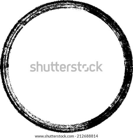 of vector grunge circle - photo #2