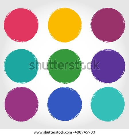 Grunge circle Abstract logo design vector illustration