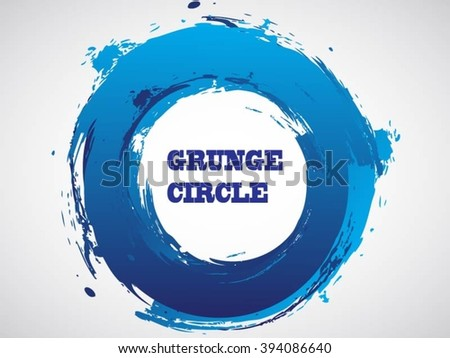 Grunge circle.Grunge round frame.Vector grunge banner. - stock vector