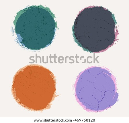 Grunge circles,round shapes.Vector illustration.