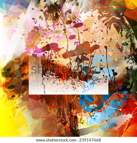 Grunge colorful background - stock vector