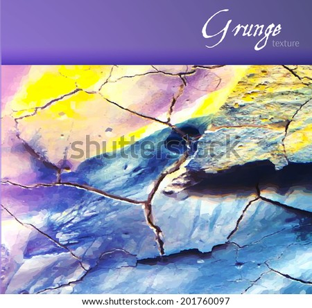 Grunge colorful background. Vector illustration