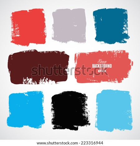 Grunge colorful backgrounds - stock vector