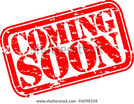 Grunge coming soon rubber stamp, vector illustration