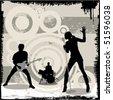 grunge concert vector - stock vector