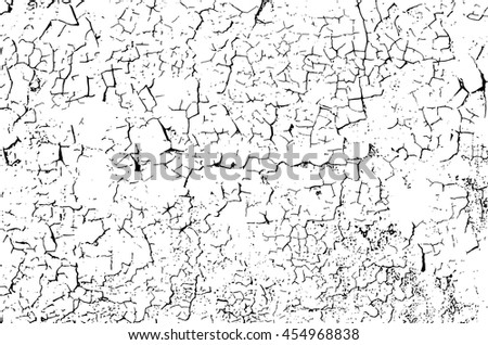Grunge Cracks Effect Texture, Cracked Concrete Wall Vector Background